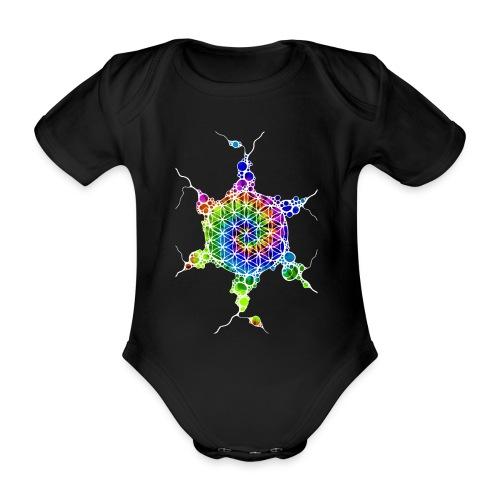 Flower Of Life Neuro Art 4 - Baby Bio-Kurzarm-Body