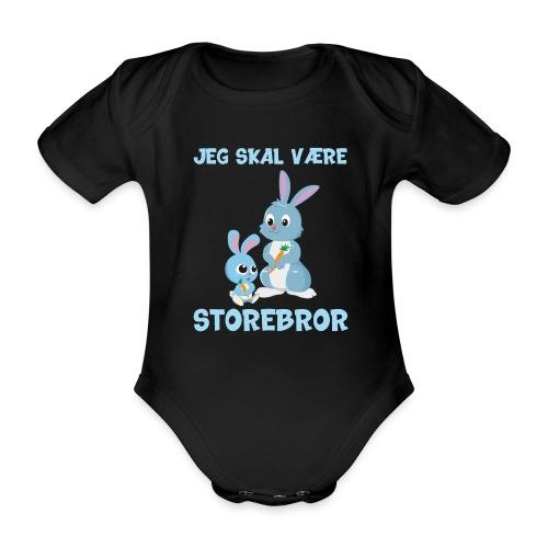 Jeg skal være storebror kaniner gave kanin - Kortærmet babybody, økologisk bomuld