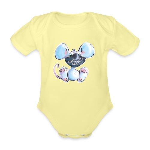 Maskenmaus - Baby Bio-Kurzarm-Body