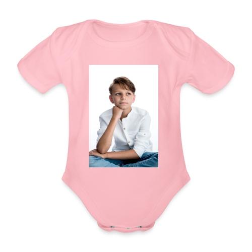 Sjonny - Baby bio-rompertje met korte mouwen