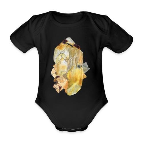 Bergkristall mit Granat - Baby Bio-Kurzarm-Body