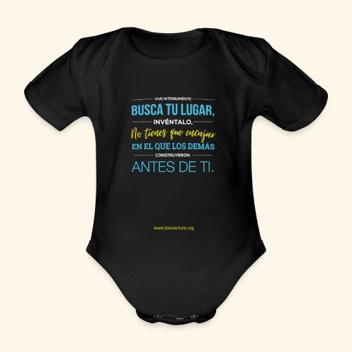 Busca tu lugar - Body orgánico de maga corta para bebé