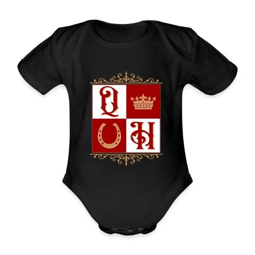 Quater Horse Ornament Pferd Royal König Geschenk - Baby Bio-Kurzarm-Body