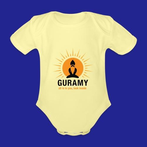 final nero con scritta - Organic Short-sleeved Baby Bodysuit