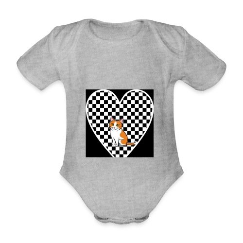 Charlie the Chess Cat - Organic Short-sleeved Baby Bodysuit