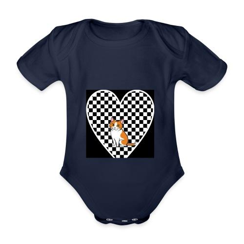 Charlie the Chess Cat - Organic Short-sleeved Baby Bodysuit