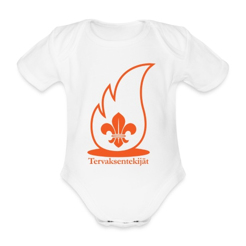 Terte oranssi 1 - Vauvan lyhythihainen luomu-body