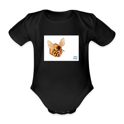 Bee United FNV - Baby bio-rompertje met korte mouwen