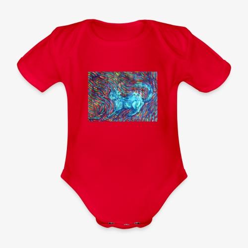 Kotek - Ekologiczne body niemowlęce z krótkim rękawem