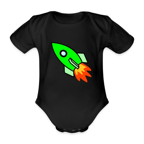 neon green - Organic Short-sleeved Baby Bodysuit
