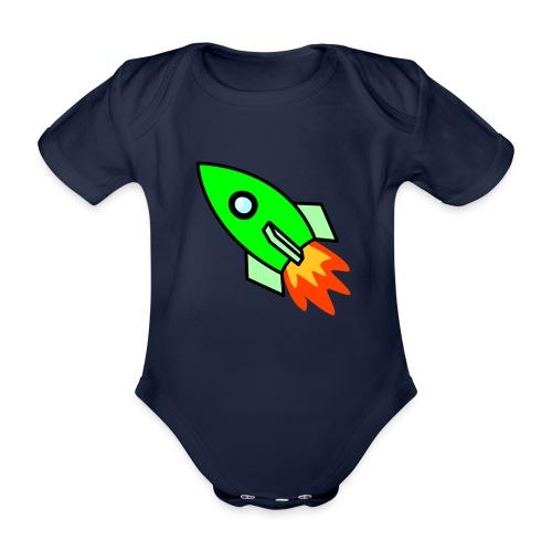 neon green - Organic Short-sleeved Baby Bodysuit