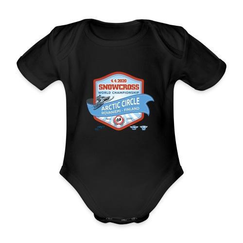 MM Snowcross 2020 virallinen fanituote - Vauvan lyhythihainen luomu-body