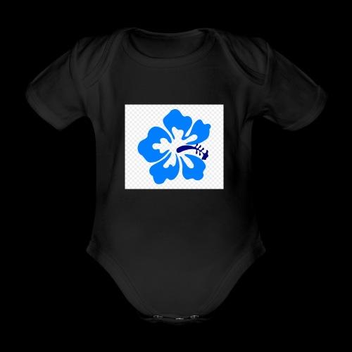 hawaiian flower - Organic Short-sleeved Baby Bodysuit