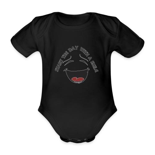 Zacznij dzień z uśmiechem - Ekologiczne body niemowlęce z krótkim rękawem