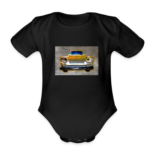 auto vintage - Baby Bio-Kurzarm-Body