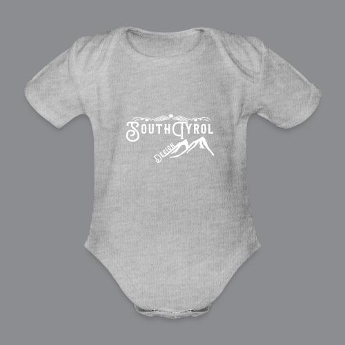 Southtyrol Weiß - Baby Bio-Kurzarm-Body