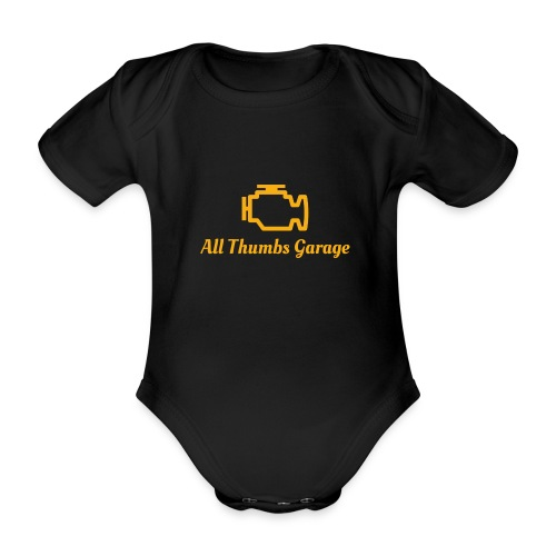 ATG logo + text - Organic Short-sleeved Baby Bodysuit
