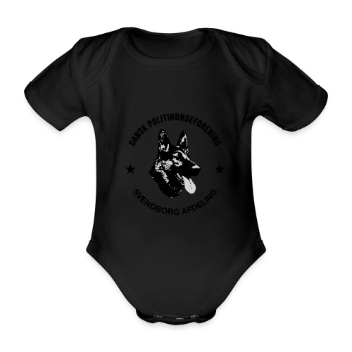 Svendborg ph sort - Kortærmet babybody, økologisk bomuld