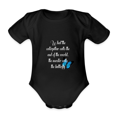 The butterfly - Organic Short-sleeved Baby Bodysuit