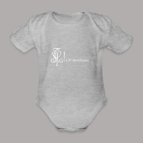 Zirkel mit Name, weiss (vorne) - Baby Bio-Kurzarm-Body