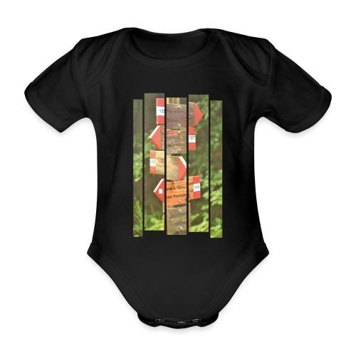 De verwarde hike - Baby bio-rompertje met korte mouwen