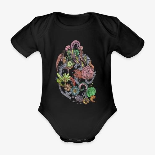 Flower Power - Rough - Ekologisk kortärmad babybody