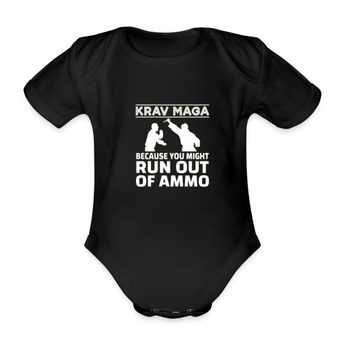 Krav Maga because you might run out of ammo - Baby bio-rompertje met korte mouwen