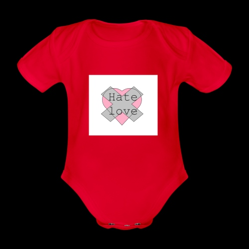 Hate love - Body orgánico de maga corta para bebé