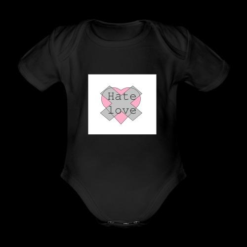 Hate love - Body orgánico de manga corta para bebé