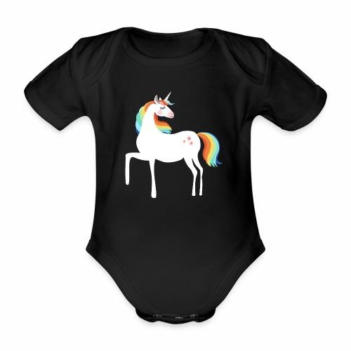 stolzierendes Einhorn bezaubernd Pferde Fabelwesen - Baby Bio-Kurzarm-Body