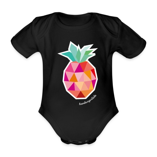 Pineapplelada Pink - Baby Bio-Kurzarm-Body