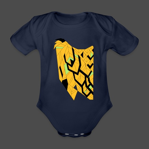 Owl Colour Redraw - Organic Short-sleeved Baby Bodysuit