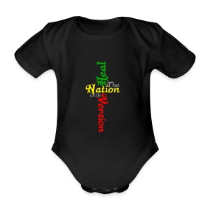 Reggae Healing Gears - Organic Short-sleeved Baby Bodysuit