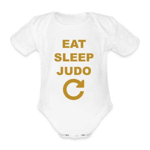 Eat sleep Judo repeat - Ekologiczne body niemowlęce z krótkim rękawem