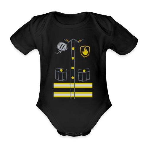 Fireman Costume - Dark edition - Organic Short-sleeved Baby Bodysuit
