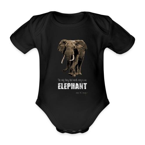 elephants need ivory - Organic Short-sleeved Baby Bodysuit