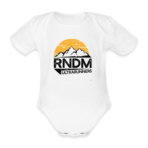 RndmULTRArunners T-shirt - Organic Short-sleeved Baby Bodysuit