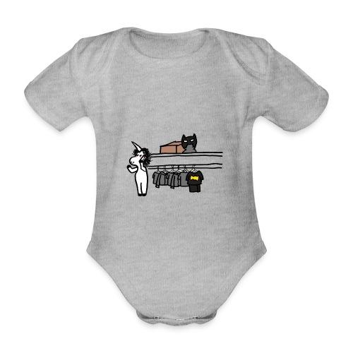 Unicorn parla al telefono - Body ecologico per neonato a manica corta