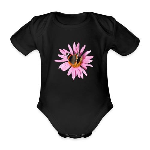 TIAN GREEN Garten - Sonnenhut Schmetterling - Baby Bio-Kurzarm-Body