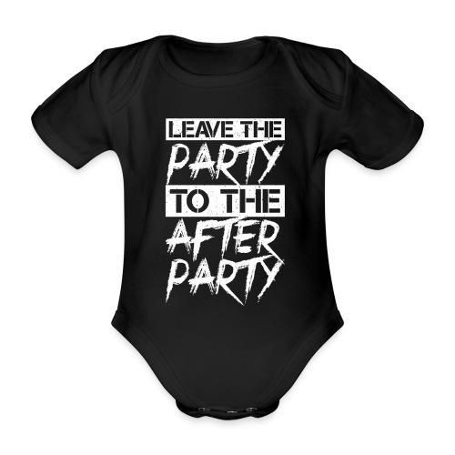 AFTER PARTY WHITE - Baby bio-rompertje met korte mouwen