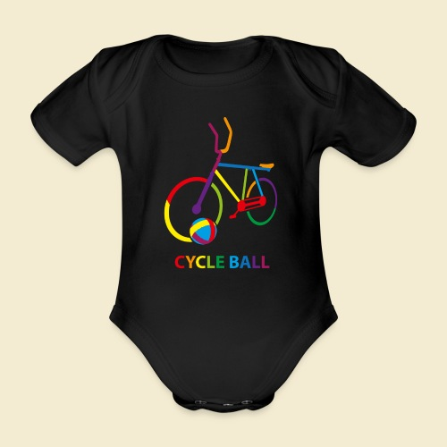 Radball | Cycle Ball Rainbow - Baby Bio-Kurzarm-Body