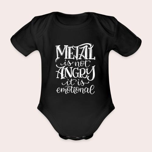 METAL is emotional - Baby Bio-Kurzarm-Body