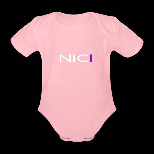 NICI logo WHITE - Vauvan lyhythihainen luomu-body
