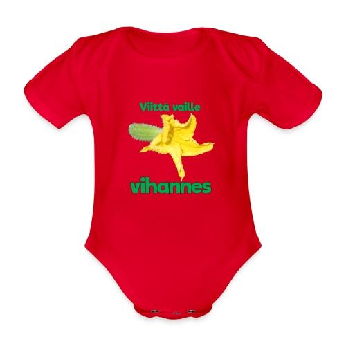 Viittä vaille vihannes, avomaankurkku - Vauvan lyhythihainen luomu-body