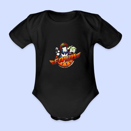 FAWK Chronicles Logo - Organic Short-sleeved Baby Bodysuit