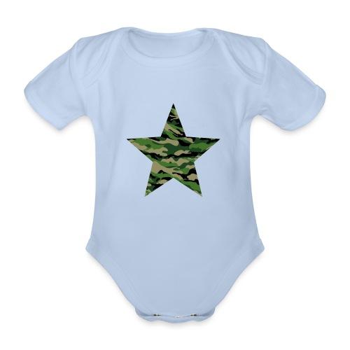 CamouflageStern - Baby Bio-Kurzarm-Body