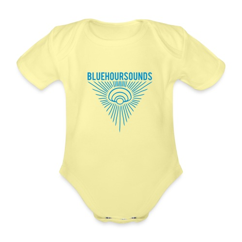New Blue Hour Sounds logo triangle - Organic Short-sleeved Baby Bodysuit