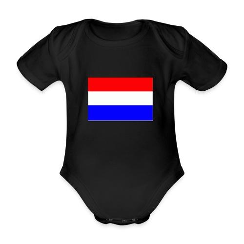 vlag nl - Baby bio-rompertje met korte mouwen