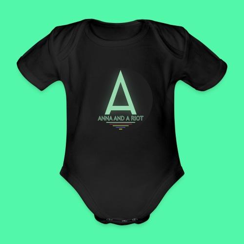 Anna And A Riot - Baby Bio-Kurzarm-Body