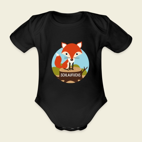 Schlaufuchs - Baby Bio-Kurzarm-Body